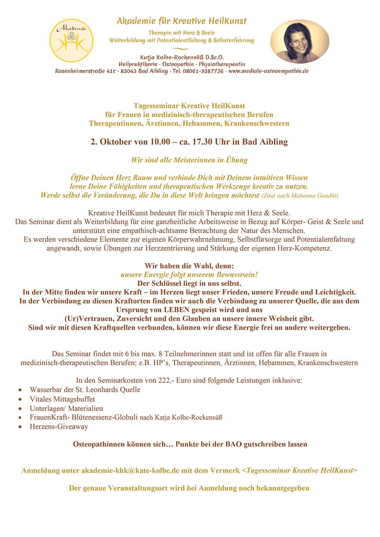 Seminar Kreative HeilKunst